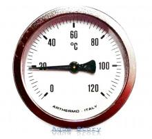 Термометр ARTHERMO аксиальный (Ø63 мм, гильза 50 мм, 0-120°С)