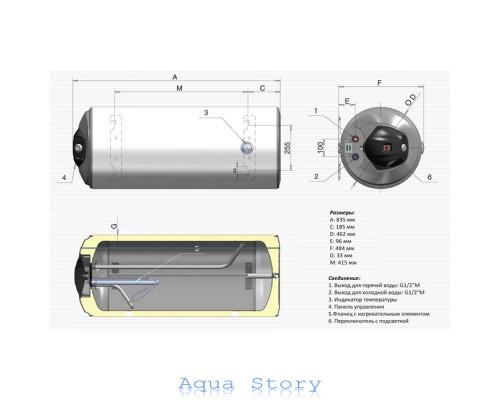 ELDOM, водонагрівач Favourite WH08046L 80л (ліве підключення)