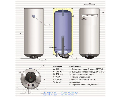 ELDOM, водонагреватель Eureka 80 WV08046D