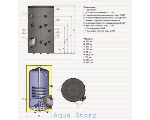 ELDOM, водонагреватель комбинированный Green Line 300 FV30067S 9kw