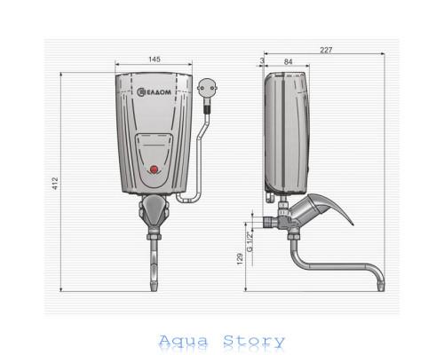 ELDOM, водонагрівач проточний ELDOM 3,5kw змішувач E42