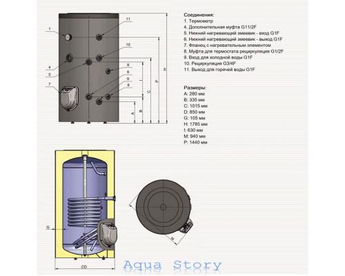 ELDOM, водонагреватель комбинированный Green Line 500 FV50085S 9kw