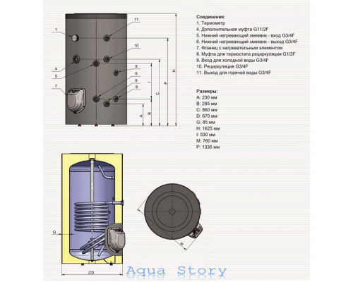 ELDOM, водонагреватель комбинированный Green Line 300 FV30067SE 9kw
