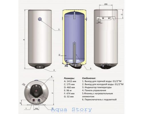 ELDOM, водонагрівач Eureka 150 72280MD