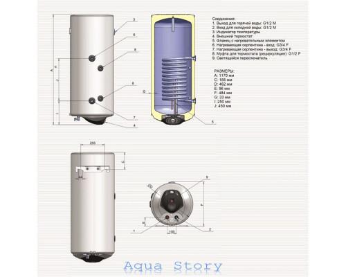 ELDOM, водонагреватель комбинированный Green Line 120 WV12046SR
