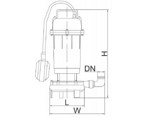 Насос дренажно-фекальный Euroaqua WQCD-2-2,6 с ножом +10м шланг +хомут +перчатки +Силушка 100гр