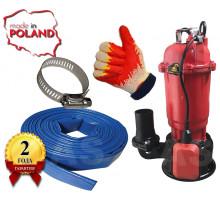 Насос фекальний Optima WQD 10-12 1.1кВт +10м шланг +хомут +рукавички +Силушка 100гр