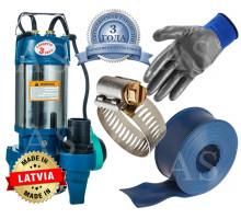 Дренажно-фекальный насос Vitals aqua KS 1723f +10м шланг +хомут +перчатки