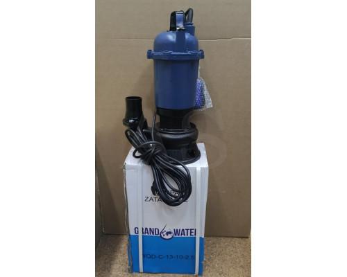 Фекальный насос Grand water WQD-C-13-10 с ножом 2.5 кВт +10м шланг +хомут +перчатки