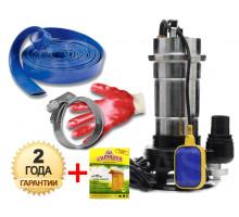 Фекальный насос Delta WQS 2-2.5 2.5 кВт +10м шланг +хомут +перчатки +Силушка 100гр