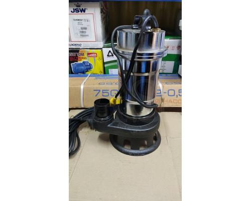 Фекальный насос Delta WQS 2-2.5 2.5 кВт +10м шланг +хомут +перчатки