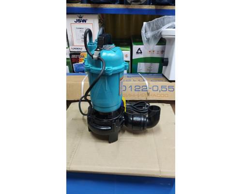 Фекальный насос Delta WQCD 2-2.6 с ножом 2.6 кВт +10м шланг +хомут +перчатки +Силушка 100гр