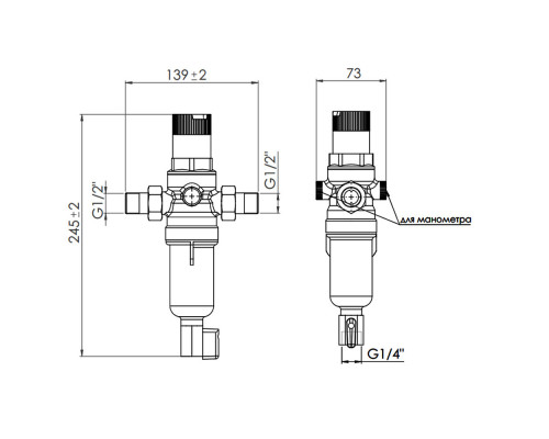 Комплект фильтров SD Forte SF128W15H 1/2 (горячая/горячая) 2 шт