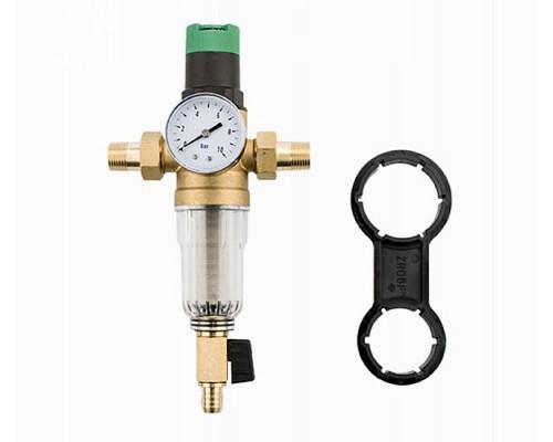 Фильтр самоочищающийся с редуктором давления 1/2 Karro