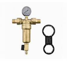 """Самопромывной фильтр Karro с манометром для горячей воды 3/4"""""""