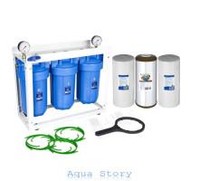Тройная система обезжелезивания Aquafilter Big Blue 10