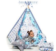 """Вигвам детский игровая палатка Вигвам """"Медведи Blue"""""""