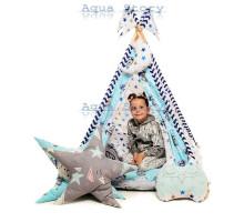 """Вигвам детский игровая палатка """"Медведи Blue"""""""