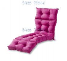 Матрас для шезлонга розовый