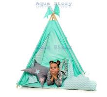 """Вигвам детский игровая палатка Вигвам """"Бирюза"""""""