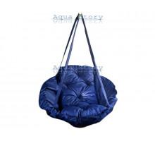 Гамак качеля для саду Виробництво Україна LUXE 250 кг синій