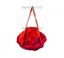 Гамак качеля для саду Виробництво Україна LUXE 250 кг червоний