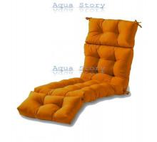 Матрас для шезлонга оранжевый
