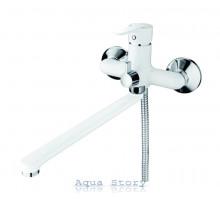 Змішувач для ванни з довгим виливом IBERGRIF SQUARE M13122W