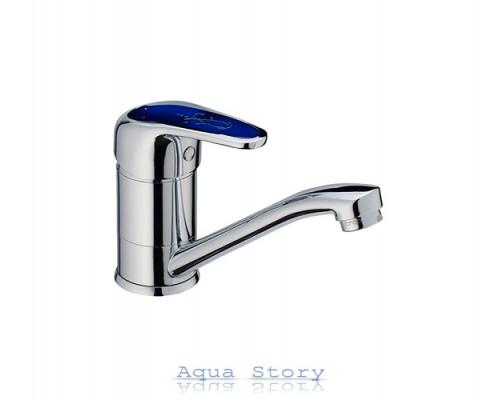 Смеситель для умывальника Haiba Magic 004-15 см Blue