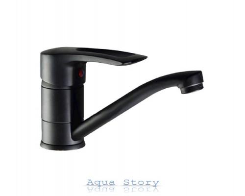 Змішувач для умивальника Haiba Hansberg 004-15 см Black