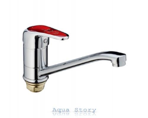 Змішувач для умивальника Haiba Magic 555-15 см Red