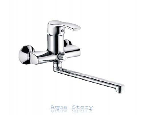 Смеситель для ванны Haiba Focus 006 euro Satin