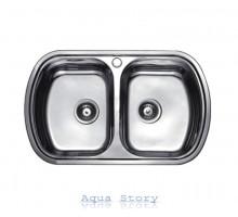 Кухонная мойка Haiba 80x49 DOUBLE SATIN