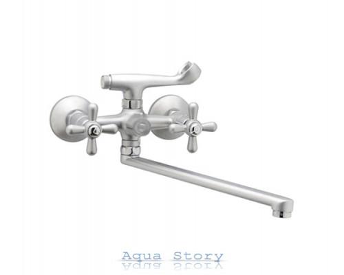 Змішувач для ванни Haiba Dominox 140 euro Satin