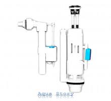 Двухуровневая сливная арматура 3/6 л, с клапаном боковой подачи NOVA plastik 4140