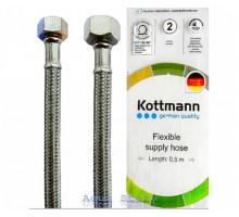 """Шланг в нержавеющей оплетке для воды Kottmann 3/8"""" x 1/2"""" 80 см"""