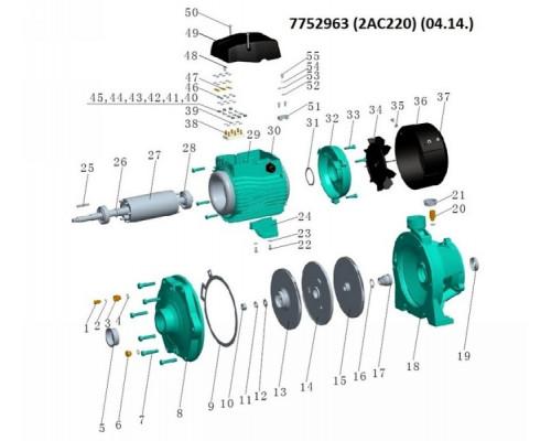 Насос відцентровий багатоступінчастий 380В 2.2кВт Hmax 65м Qmax 180л/хв Leo 3.0 (7752963)