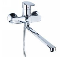 Смеситель KN Ø40 для ванны гусак прямой 350мм дивертор встроенный картриджный Aquatica (KN-2C228C)
