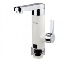 Кран водонагреватель проточный HZ 3.0кВт 0,4-5бар для кухни гусак прямой на гайке (W) Aquatica (HZ-6B243W)