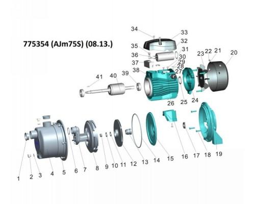 Насос відцентровий самовсмоктуючий 0.75кВт Hmax 46м Qmax 55л/хв (нерж) Leo 3.0 (775354)