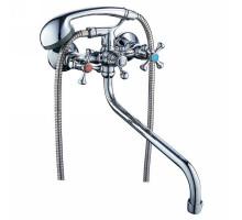 """Змішувач VN 1/2 """"для ванни гусак вигнутий дивертор вбудований кульовий TAU (VN-5C460C)"""