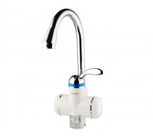 Кран водонагреватель проточный LZ 3.0кВт 0,4-5бар для кухни гусак ухо на гайке Aquatica (LZ-6B111W)