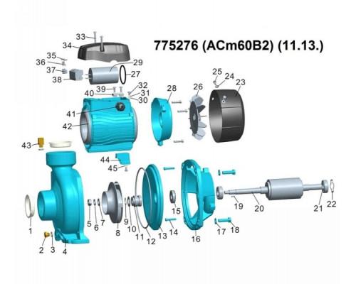 """Насос центробежный 0.6кВт Hmax 12,5м Qmax 400л/мин 2"""" Leo 3.0 (775276)"""