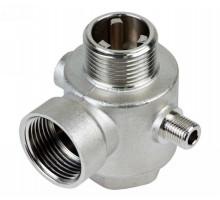 """З'єднувач пятівиводний + зворотний клапан 80мм 1 """"М × 1"""" F × 1 """"F × 1/4"""" M × 1/4 """"F Silver 480г AQUATICA (779601)"""