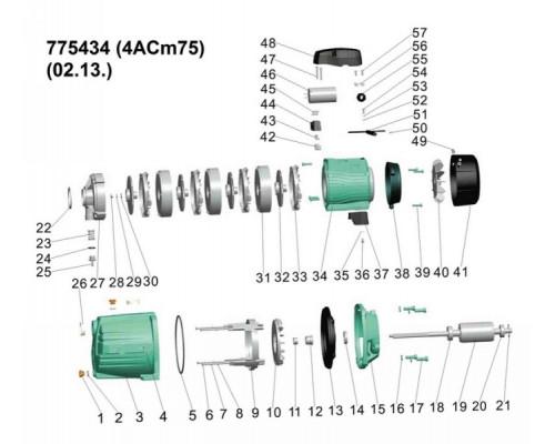 Насос відцентровий багатоступінчастий 0.75кВт Hmax 46.5м Qmax 90л/хв Leo 3.0 (775434)