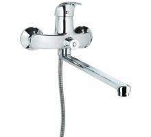 Смеситель SL Ø40 для ванны гусак прямой 350мм дивертор встроенный картриджный TAU (SL-2C243C)