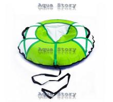 Санки надувные Тюбинг 100 см (Белый-Зеленый)