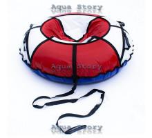 Санки надувные Тюбинг 100 см (Белый-Красный)