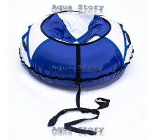 Санки надувные Тюбинг 100 см (Белый-Синий)