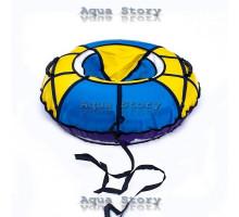 Санки надувные Тюбинг 100 см (Желтый-Синий)